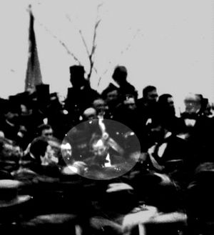 only known picture of Lincoln at Gettysburg-address