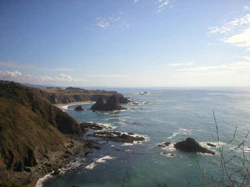 Pacific Ocean looking south, Elk, California